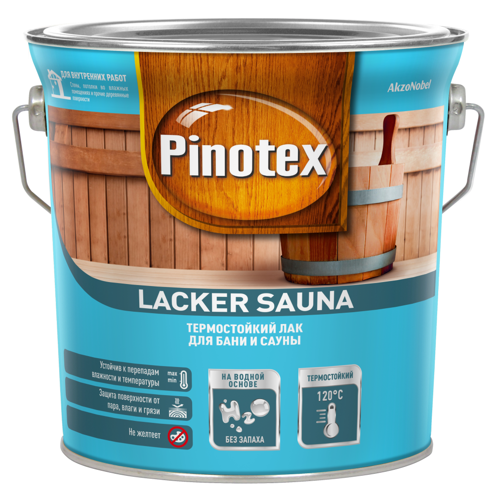 Pinotex Lacker Sauna / Пинотекс Лакер Сауна  Термостойкий лак для бани и сауны