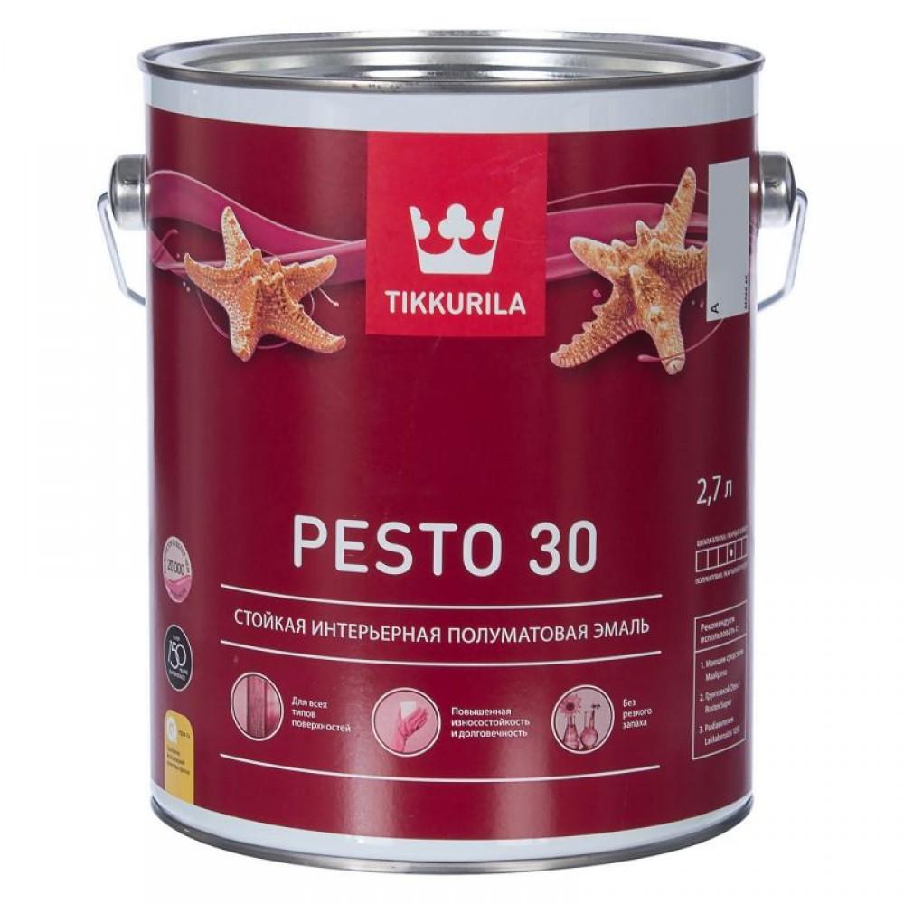 Tikkurila Euro Pesto 30 / Тиккурила Евро Песто 30  Стойкая интерьерная полуматовая эмаль